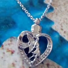 cheap cremation jewelry online cheap cremation jewelry angel girl hollow heart memorial
