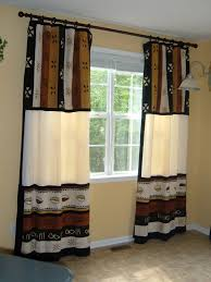 elegant cotemporary window treatment design in two tone colors