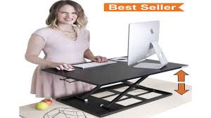 Best Sit To Stand Desk by X Elite Pro Height Adjustable Sit Stand Desk Converts Your