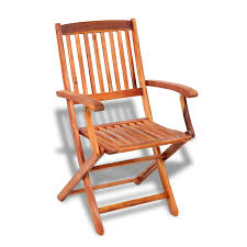 Stylish Folding Chairs Vidaxl Wooden Outdoor Dining Set 4 Chairs 1 Rectangle Table
