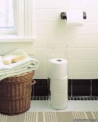 Extra Toilet Paper Holder Bathroom Organization Tips Martha Stewart