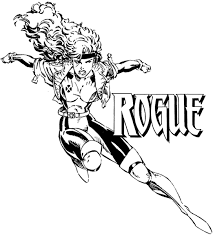 marvel rogue coloring pages super heros marvel