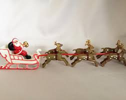 Christmas Decorations Reindeer by Plastic Reindeer Etsy