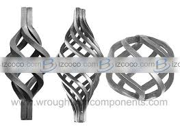 ornamental wrought iron accessories for fence gate stair china