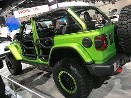 modified jeep wrangler mopar modified four door 2018 jeep wrangler rubicon at the 2017 la
