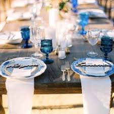 blue and white table ls otis and pearl vintage rentals 31 photos party event planning