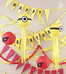 minions birthday party ideas diy minions birthday party ideas banner with sizzix eclips2