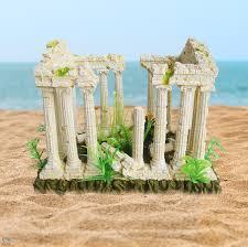 roman ruins aquarium decorations temple wreck fish tank ornament