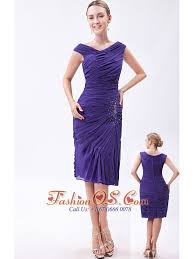 purple dresses for weddings knee length purple column v neck prom dress chiffon beading knee length 113 42