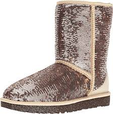 ugg womens glitter boots amazon com ugg s sparkles mid calf