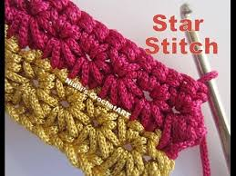 crochet pattern using star stitch how to crochet star stitch tutorial youtube