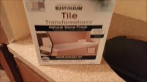 Tiling A Countertop Countertop Transformation The Rust Oleum Way Youtube