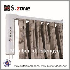 Motorized Curtain Track System Silent Gliss Electric Curtain Motor System Remote Control Curtain