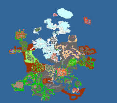 Show World Map by Game Map Digimon World Online