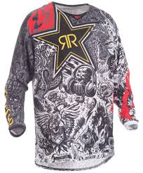 rockstar motocross goggles kinetic rockstar mesh black white jersey fly racing motocross