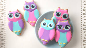 how to decorate owl cookies youtube