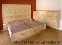 Schlafzimmer Zirbe Zirbenbett Watzmann Doppelbett Massivholzbett Zirbenbett