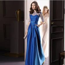 formal gown new sapphire plus size evening dress bow perspective