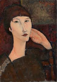 modigliani woman with a fan adrienne woman with bangs amedeo modigliani artwork on useum