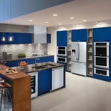 Blue Kitchen Backsplash Contemporary Blue Kitchen Design T Shaped Kitchen Island Unique