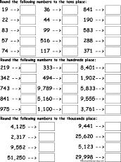rounding numbers worksheet printout enchantedlearning com