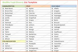 7 grocery list template word bookletemplate org
