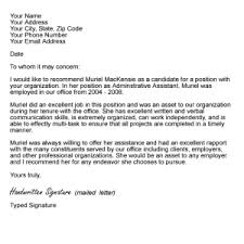 letter of recommendation templates letter idea 2018