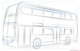 how to draw a double decker bus step by step drawing tutorials