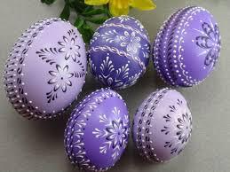 wax easter egg decorating набор 5 пасхальные яйца в purple украшенные куриных яиц воск