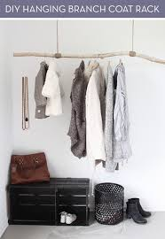 make it rustic hanging coat rack diy curbly