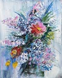Image Of Spring Flowers by Oil Painting Bouquet Of Spring Flowers U2014 Stock Photo Kalinovsky
