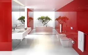 red wall painted interior color decor house car garage design