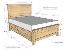 Free And Easy Diy Furniture Plans by Ana White Build A Farmhouse Storage Bed With Storage Drawers