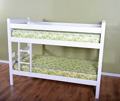 furniture rectangle white wood bunk beds with single ladder