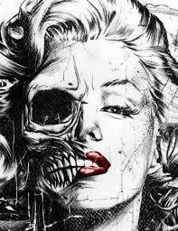 marilyn half skull skullspiration comskullspiration