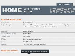 Construction Excel Templates Ms Excel Home Construction Budget Template Formal Word Templates