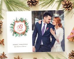 married christmas cards newlywed christmas card wedding announcement photo