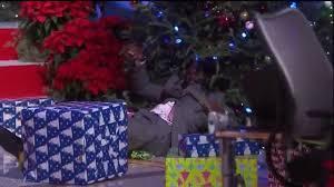 kenny sends shaq into the christmas tree on inside the nba youtube