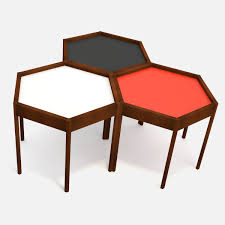 Hexagon Side Table Mid Century Modern Hexagon Side Table 3d Model