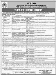 Contract Administration Job Description Municipal Services Delivery Program Jobs Government Of Sindh 2016