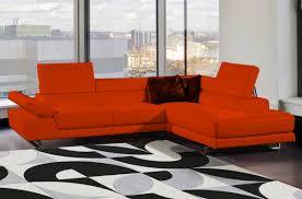 canapé d angle orange canapé d angle en cuir haut de gamme italien vachette vénésetti