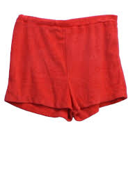 1980 u0027s retro shorts 80s kmart womens red background polyester