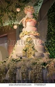 wedding cake palembang beautiful wedding cake stock photo 775956427