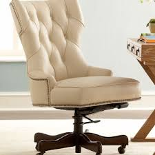 Cream Leather Office Chair Home Design Care Modern Desk Chairs