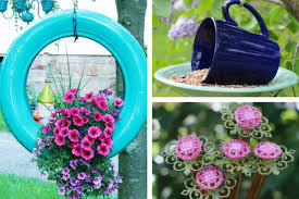 Garden Art To Make - 20 beautiful garden crafts to make with recycled materials