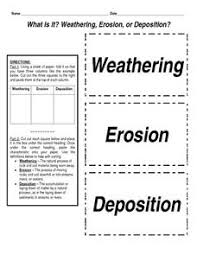 what is it weathering erosion or deposition worksheet