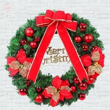 40cm bow new year wreath door drop room ornaments decor