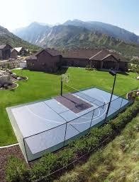 backyard basketball court installation cost home outdoor decoration