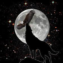the wolf the eagle and the moon by darkenedsoul12 on deviantart