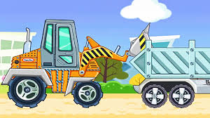 trucks for children kids construction game crawler excavator
